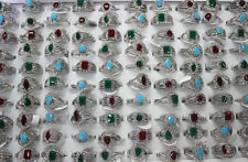 50pcs Bulk Lots Women Lady's Rhinestone Rings Fashion Resin Ring Gifts EH586