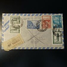 ARGENTINE LETTRE EXPRESS RECOMMANDE COVER BUENOS AIRES 1961 -> FRIBOURG SUISSE