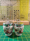 Pair of Royal Worcester Egg Coddlers 'Bournemouth Rose' Flaw Large 2 Egg Size