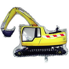 YELLOW DIGGER TRUCK SUPERSHAPE HELIUM FOIL BALLOON CONSTRUCTION PARTY SUPPLIES