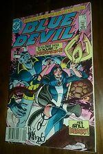 blue devil #4 signed by gary cohn & paris cullins dc comics comic book vintage
