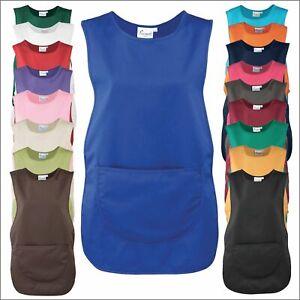 Premier Front Pocket Tabard Ladies Workwear Cleaning Bar Apron Kitchen Tabbard