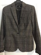 Maison Scotch Blazer Tweed Country Hacking Jacket Leather Elbow Patches S (8)