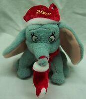 "Walt Disney CUTE CHRISTMAS DUMBO ELEPHANT 4"" Plush STUFFED ANIMAL TOY ORNAMENT"