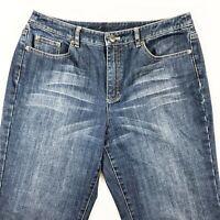 Talbots Womens Size 12 Petite Jeans Stretch Medium Wash Straight Leg