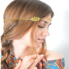 Turquoise Hamsa Fatima Hand Forehead Headband Headpiece Hair Band Accessories