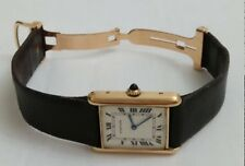 Cartier Tank Louis Hand Wind 18k Solid Gold with Deployment Buckle Vintage Watch