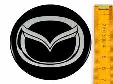 MAZDA ★ 4 Stück ★ SILIKON Ø70mm Aufkleber Emblem Felgenaufkleber Radkappen