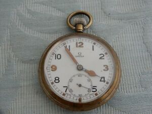 1939 Omega Officers pocket watch, Original & Triple signed, from old collection