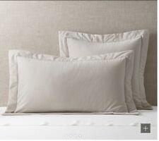 Restoration Hardware Verona Cotton-Silk Shams,Dune-Standard Size,Set Of 2