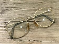 VIENNA LINE UNISEX GOLD BIG SPECTACLES METAL EYEGLASSES 1554 140MM 52-20 GERMANY