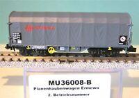 Modellbahn Union MU36008-B Planenhaubenwagen Ermewa 2.Betriebsnummer,Neu,OVP,
