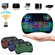 Colorful Backlight Mini 2.4GHz Wireless Keyboard Touchpad Fly Air Mouse Recharge