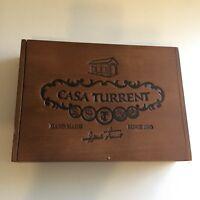Cigar Box Casa Turrent EMPTY Wood Storage Stash Box Crafts