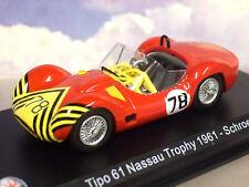 """1/43 DIECAST MASERATI TIPO 61 """"BIRDCAGE"""" #78 NASSAU TROPHY 1961 BOB SCHROEDER"""