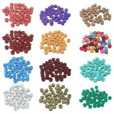 100Pcs Envelope Seal Seal Wax Retro Octagon Beads DIY Decor Multicolor Stamps