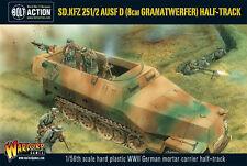 Warlord GAMES BNIB Sd.Kfz 251/2 AUSF D (8 cm granarwerfer) moitié track wgb-wm-515