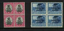 British KUT - south africa stamps overprinted blocks - fresh MNH 1941