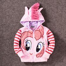 My Little Pony Girls Zipped Hoodie w/Wings & Mane - NWT - Rainbow Dash - 2-7 yrs