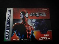 ULTIMATE SPIDER-MAN Nintendo GameBoy Advance GBA **INSTRUCTION BOOKLET ONLY**