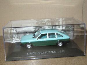 958P IXO 80 Talbot Simca 1308 S Jubilé 1979 Vert 2 Tons 1:43 Neuf + Boite