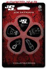 Joe Satriani 10 Heavy Guitar Picks Black Planet Waves D'Addario 1CBK6-10JS