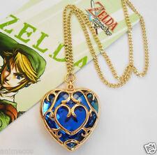 Legend of Zelda Skyward Sword Heart Container Necklace Cosplay Pendant Blue