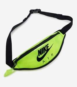 Nike Air Heritage Fanny Hip Pack Belt Bag Volt Black CW9259-702