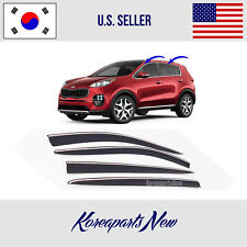 3M Tape Smoke Door Window Vent Visor Deflector fits for 2017-2019 KIA SPORTAGE