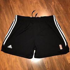 Black TEAM ISSUE Adidas WNBA Practice Basketball XL Storm Player Jersey SHORTS