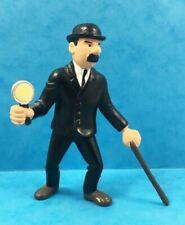 Figurine plastique Tintin Dupond avec sa loupe Plastoy