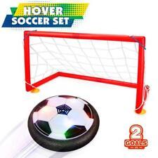 New Indoor Safe Kids Gliding Hover Led Light Soccer Ball & Goal Sports Game Set