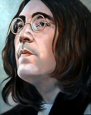 Signed Print from Original Oil Painting of Beatle John Lennon