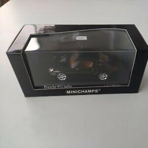 1/43 minichamps porsche 911 turbo noir metallic  edition limitée