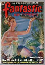 GLOSSY Mar 1949 25c FANTASTIC ADVENTURES Sci-Fi Pulp Mag! TALES OF THE UNCANNY!