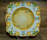 "PIER 1 IMPORTS - BELLANINA - 10 1/2"" SQUARE HAND PAINTED - DINNER PLATES - LN"