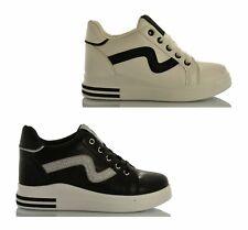 Scarpe Donna Zeppa Interna 8 da Ginnastica Sneakers Fitness Running Casual Moda
