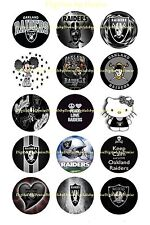 """OAKLAND RAIDERS BOTTLE CAP IMAGES 30 1"""" CIRCLES *****FREE SHIPPING*****"""