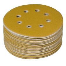 Powertec 6 in. 8 Hole 150 Grit Hook Loop Sanding Disc 50 Pack Sander Sandpaper