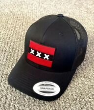 Amsterdam Flag Hat SnapBack Trucker Mesh Cap Handcrafted in the USA!