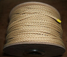 "3/32"" x 200' Diamond Braid Sand / Tan Polyester / Dacron Cord - Twine - String"