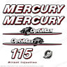 Mercury 2007-2012 115hp Optimax Decal Kit Outboard Engine Decals