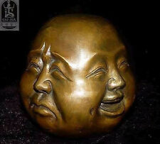 Oriental Bronze Four Face Buddha Sculpture - Signed statue H:10CM