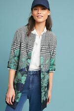 NWT Sz 0 Anthropologie Floral & Houndstooth Coat by Eva Franco $178