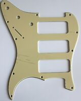 Guitar Pickguard for Fender Stratocaster Strat P90 3 Pickup Style,Vintage Yellow