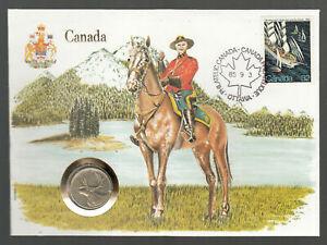 Numiscover Numisbrief UN New York 1985 CANADA Mountain Police Horse