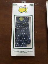New Masters Golf Glove w/Ball Marker Cabretta Leather  - Navy,  Reg LargeWomens