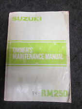 SUZUKI RM125 1984 origine UK owners workshop manuel d'entretien rm2783