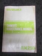 SUZUKI RM125 1984 origine UK owners workshop manuel d'entretien rm2783