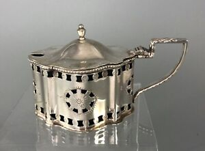 Neoclassical Silver Mustard Pot C&W Birmingham 1973 100g FZX